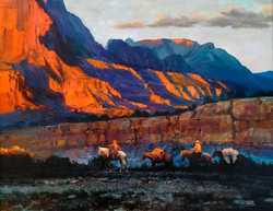 Trail-in-Navaho-land-acrylic-on-canvas-s
