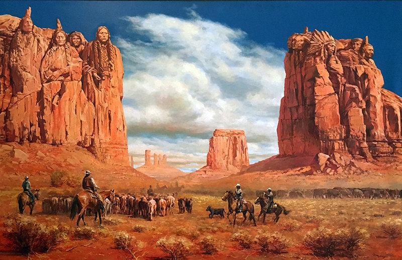 valeriy kagounkin original art валерий кагунькин tamara magdalina тамара магдалина western art paintings canyon of the great onse