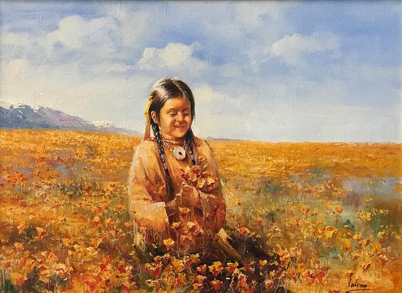 valeriy kagounkin original art валерий кагунькин tamara magdalina тамара магдалина western art paintings California Poppy