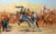 valeriy kagounkin original art валерий кагунькин tamara magdalina тамара магдалина western art paintings the cowgirl and the dude