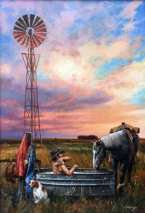 valeriy kagounkin original art валерий кагунькин tamara magdalina тамара магдалина western art paintings the cowboy spa