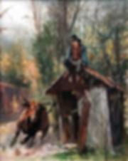 valeriy kagounkin original art валерий кагунькин tamara magdalina тамара магдалина western art paintings outhouse blues