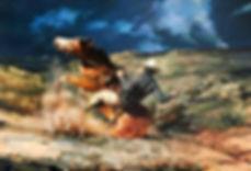 valeriy kagounkin original art валерий кагунькин tamara magdalina тамара магдалина western art paintings ambushed