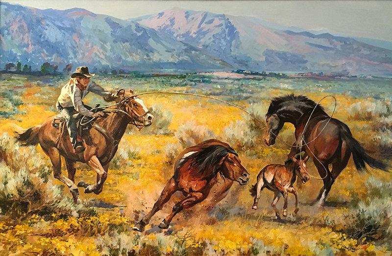 valeriy kagounkin original art валерий кагунькин tamara magdalina тамара магдалина western art paintings running for freedom