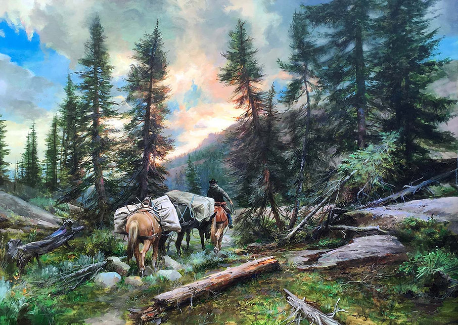 Wyoming Wind River Pack in High Country,