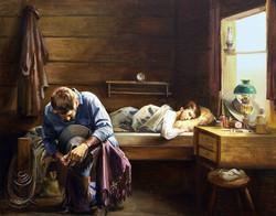 Cowboy Pray For Family