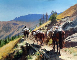 Way to the Mountan