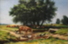 valeriy kagounkin original art валерий кагунькин tamara magdalina тамара магдалина western art paintings sharing a moment