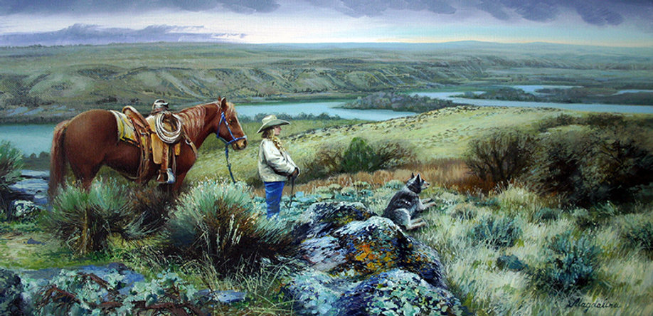 Tamara Magdalina Oregon Trail oil canvas
