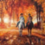 valeriy kagounkin original art валерий кагунькин tamara magdalina тамара магдалина western art paintings sunday ride