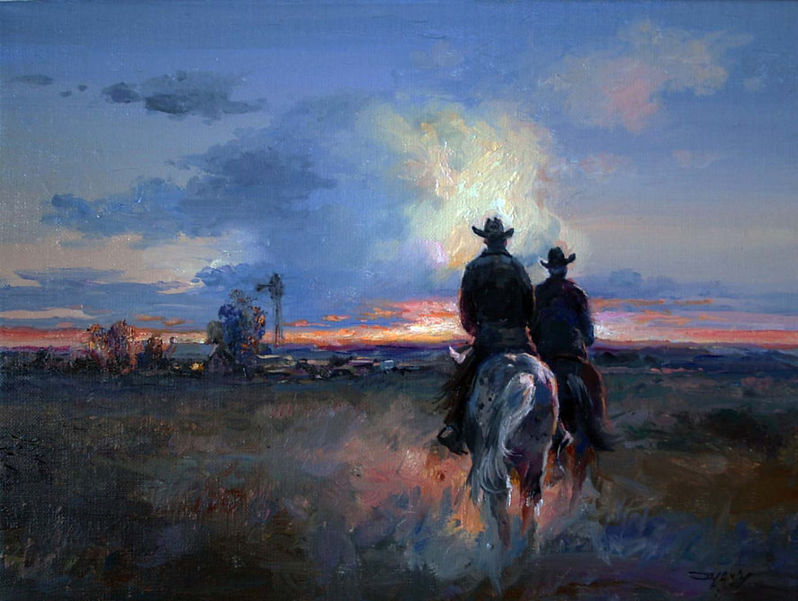 Valeriy-Kagounkin-Ride-back-to-Ranch-oil