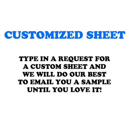 Custom Sheet!