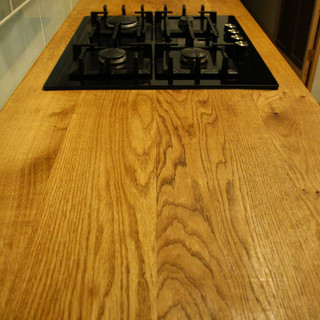 Oak planks, sanded and joined..JPG