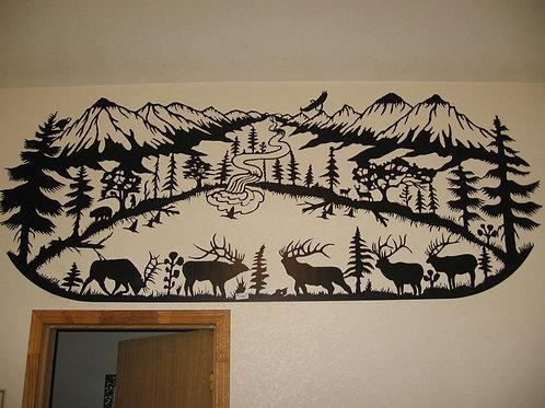 Large Elk Scene