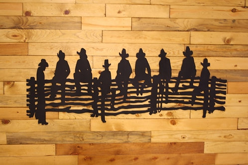 Cowboys On Fence