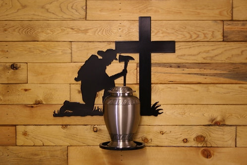 Firefighter Memorial Urn Stand