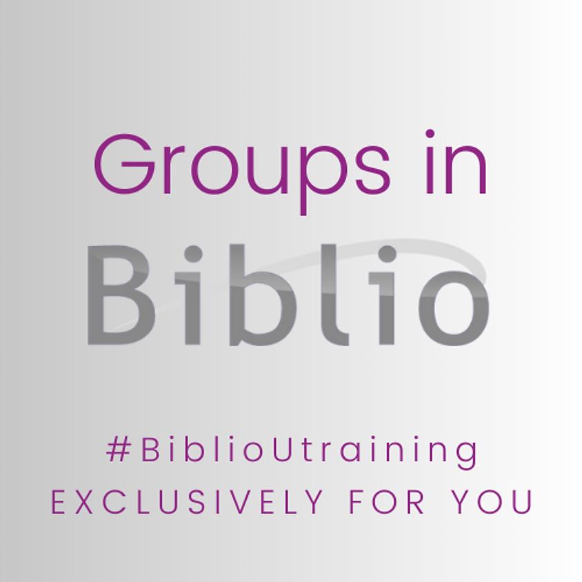 BiblioU Training - Groups in Biblio