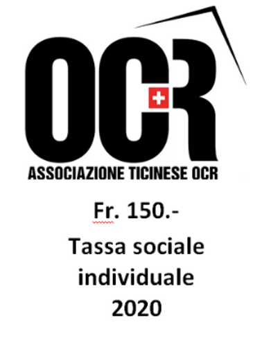 QUOTA SOCIALE INDIVIDUALE 2020