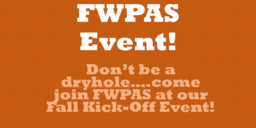 FWPAS Fall Kick-Off Event
