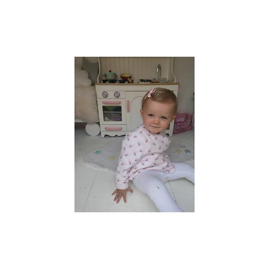 Tartine et Chocolat Baby Pink Floral Print down Jacket