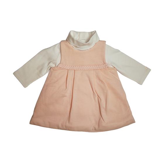 Chloé baby peach dress and poloneck