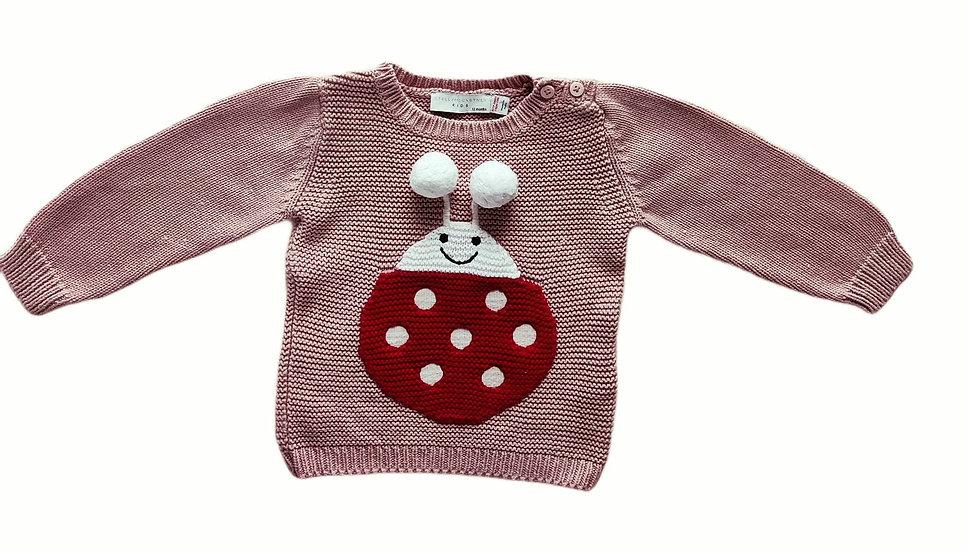 Stella Kids Pink Knit with Ladybug 🐞