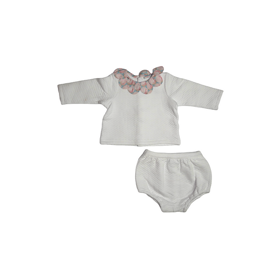 Jacadi Jumper and Bloomers with Peacock Collar