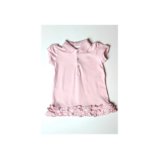 Ralph Lauren Baby Pink Ruffled Polo dress and bloomers