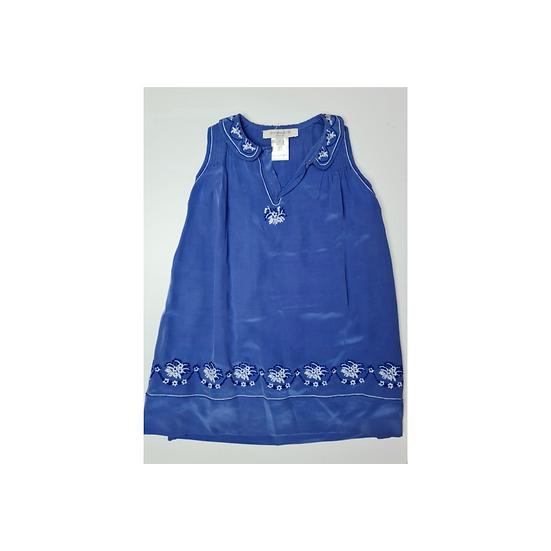 Caramel baby and child blue Silk dress