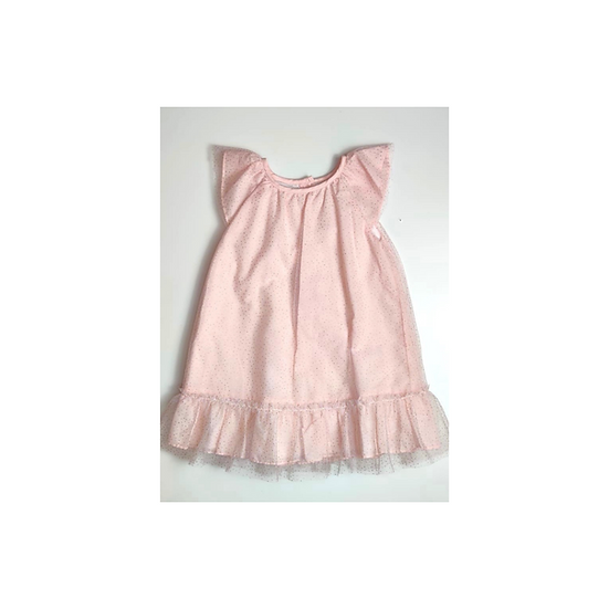 Marie Chantal Pale Pink Sparkly Carolina Dress with Tuile