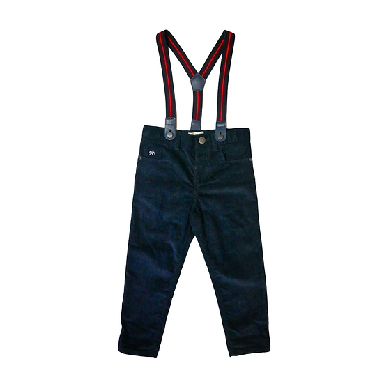 Jasper Conran Navy Cords with Red and Navy Braces