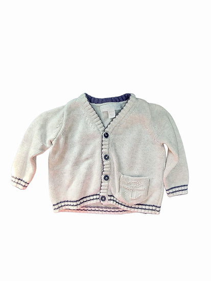 The Little White Company Grey Knit Cardigan