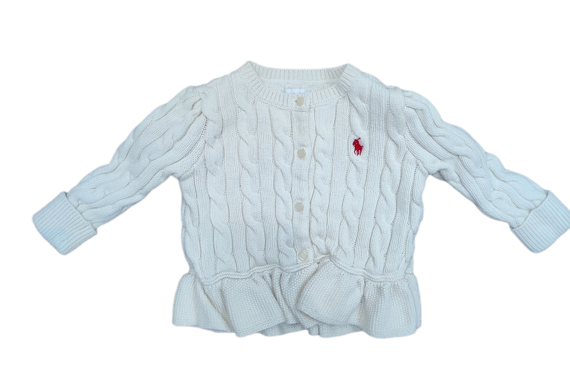 Ralph Lauren Cable Knit Cardigan Cream