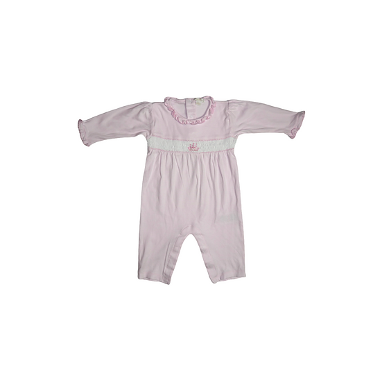 Kissy Kissy pink footless babygrow with castle