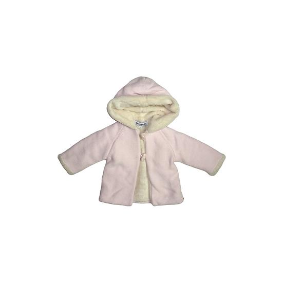 Tartine et Chocolat Baby Pink Fleece Lined Cardigan