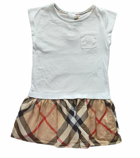 Burberry Dress with white t-shirt top
