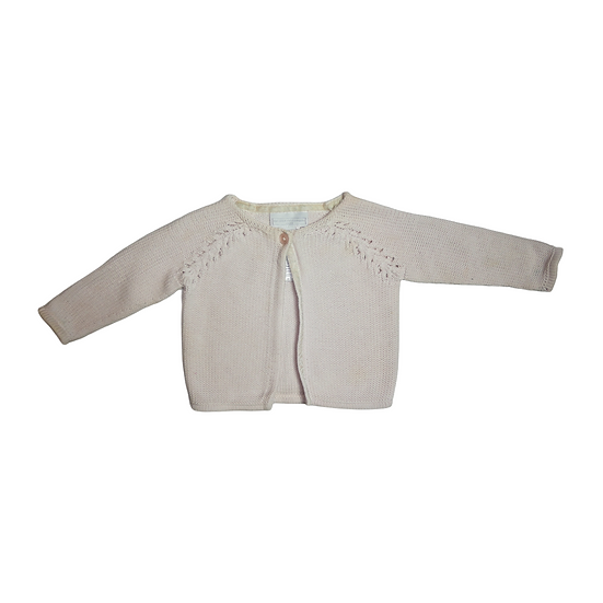 The Little White Company Baby Pink Cardigan