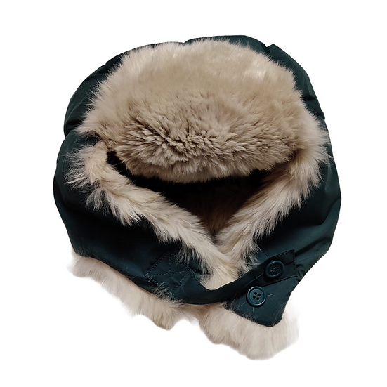 Bonpoint Green Hat with fur