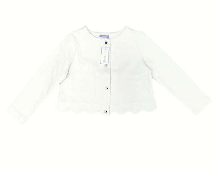 Jacadi White Fleece Lined Cardigan
