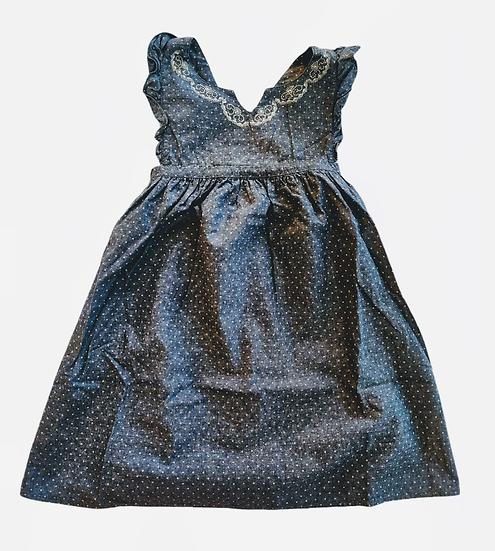 The Little White Company Blue Polka Dot Dress