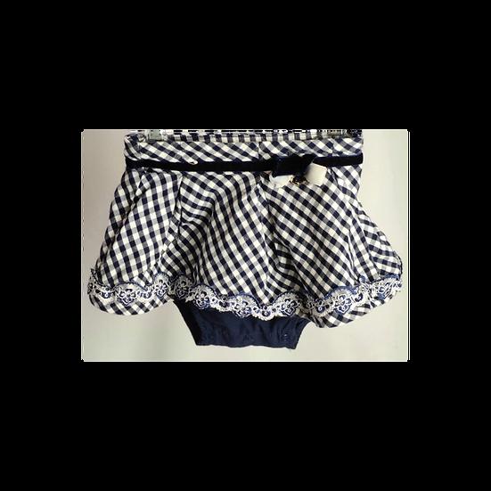 Mayoral navy checkered skirt
