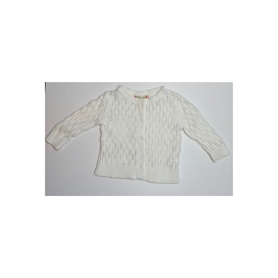 Bonpoint Knitted Crochet Cardigan in Cream