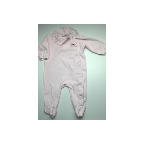 Pureté du…bébé baby pink onsie with frill collar