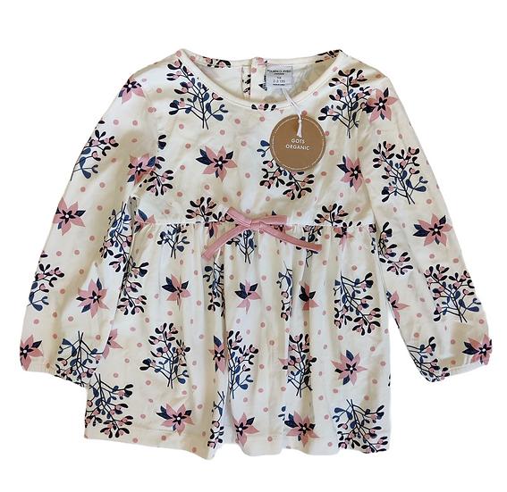 Polarn O. Pyret GOTs organic cotton dress with flowers