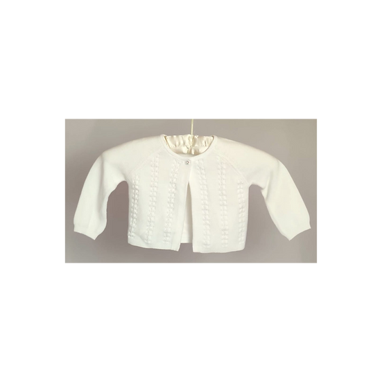 The Little White Company White Cable Stitch Cardigan
