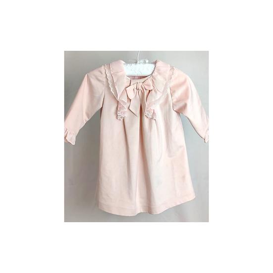 Patachou blush pink velvet dress
