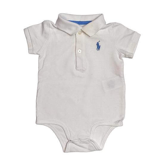 Ralph Lauren Jersey Polo Baby Body White