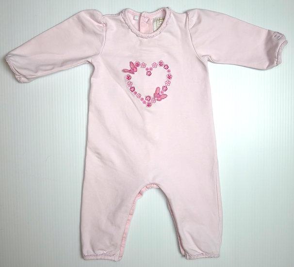 Emile et Rose Footless Pink Babygrow