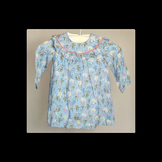 La Coqueta Baby Blue floral dress