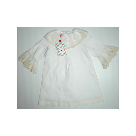 La Coqueta Arjona Ceremony Girl Dress White